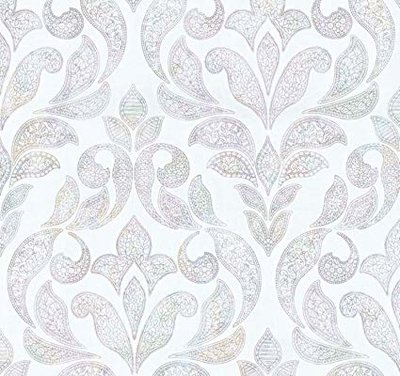 13377-10 multicolour barok op witte vlies