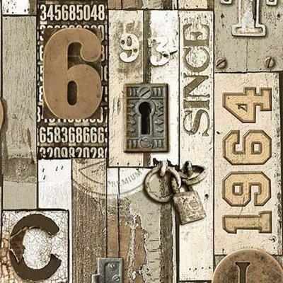jw3919 sloophout vinyl met letters en sloten