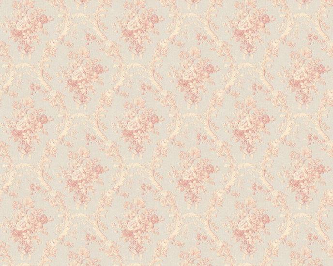 Afbeelding van 1,06 breed glans vinyl op vlies paradise flowers