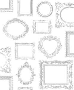 wit zilver fotolijsten papier behang