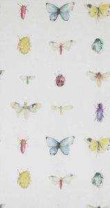 BN Wallcovering Chacran 2 18431 weefsel met vlinders lieveheersbeestjes etc