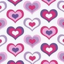 1170-6 roze lila hartjes behang papier