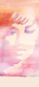 18734  fotowand Romance Italiana young Sophia Loren  Water Color II Mural by Galerie