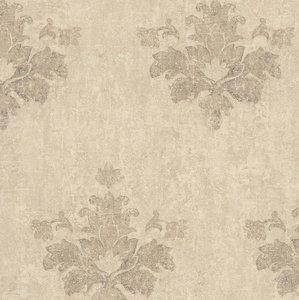 epic faded splendour baroque safraan /zand tinten  op beton look/oude cottage muur vlies