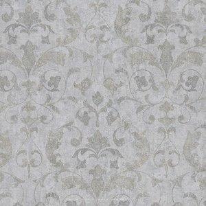 epic faded splendour trianon  grijs groen tinten  op beton look/oude cottage muur vlies
