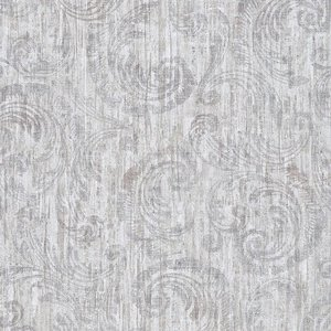epic faded splendour ornament off white taupe grijs tinten  op beton look/oude cottage muur vlies