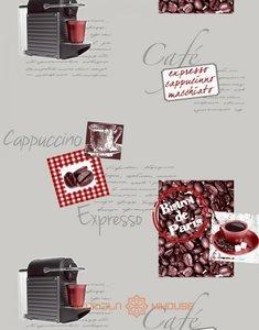 Keuken cappuccino behang