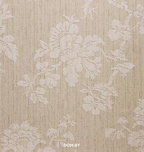 Country chic  belmont collection crème beige ondergrond met erop liggende reliëf tijdloos bloem patroon  vinyl op vlies
