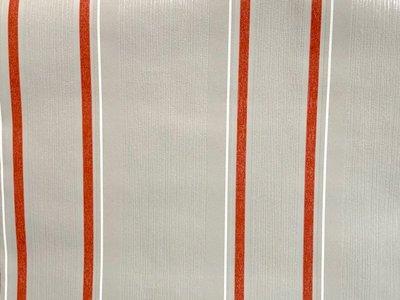 Streep rood / grijs vinyl op vlies 18562