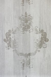BN wallcoverings Elements off white dusted grey hampton beach house wood with royal emblem  vinyl op vlies