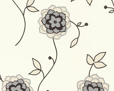 1228-65 bloemen ,met zilver/glitter