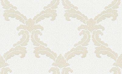 Vliesbehang overschilderbaar Barok  wit AP-pigment 95165-1 met granulaat voor luxe effect 25 meter -1,06 breed