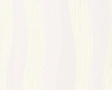 9129-23daniel hechter vlies wit met zacht grijs geometrische strepen