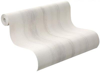 425413 rasch vlies wit met grijs streep effect