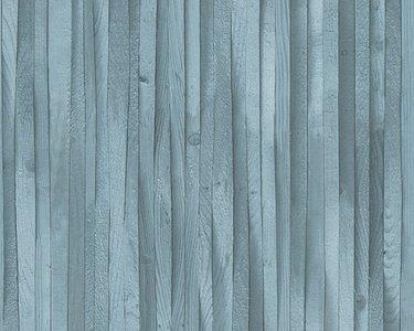 Genoeg AS Creation Decoworld 2 behang 30748-2 petrol hout NH89
