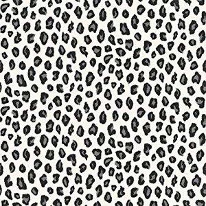 202953 luipaard  zwart wit met glitter